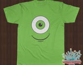 Disney Shirts -Mike Wazowski Smile - Monsters Inc (Black and White Design)