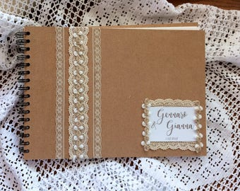 Guestbook-guest book for wedding-customized and decorated by hand