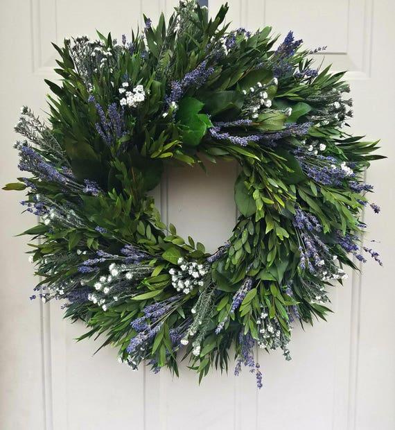 Reserved for Anna-- 30 inch wreath, foliage wreath, leaf wreath, large wreath, indoor wreath, eucalyptus wreath, natural wreath