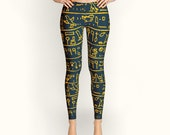 Egyptian hieroglyphs, Leggings, Women Leggings, Yoga Leggings, Yoga Pants, Clothing, Pants