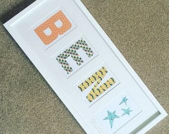 Kids name - letters - bedroom decoration