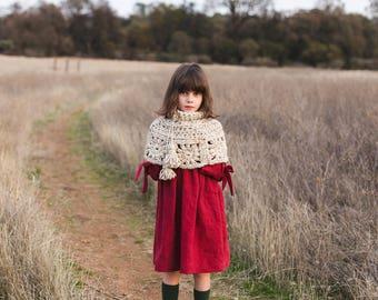 Granny Square Capelet Crochet Pattern, PDF