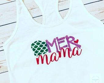 MerMama, Mermaid Mommy, Mermaid Momma, Mermaid Mama, The Little Mermaid, Mermaid Birthday Shirt, Little Mermaid Birthday