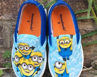 Disney Minion painted shoes