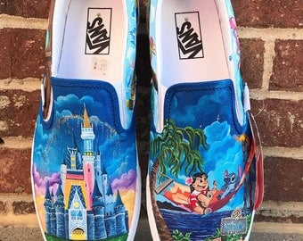 lilo and Stitch Pianted shoes