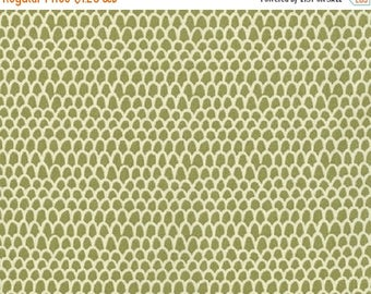 "ON SALE Dear Stella Designs       ""Piper"" Scallop   Green    100% Cotton   Remnant"