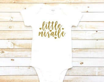 Little miracle, baby girl, miracle baby, rainbow baby, cute baby clothes