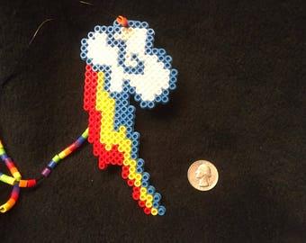 Perler Bead Of Rainbow Dashes Cutie Mark