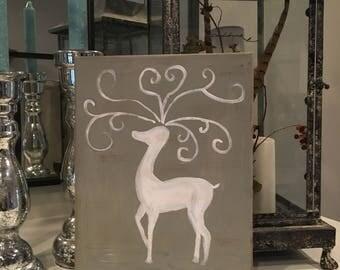 Reindeer Sillouette Painting