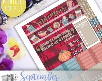 HAPPY PLANNER September Monthly View Kit – Printable Planner Stickers
