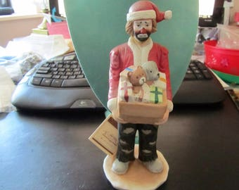 Emmett Kelly Jr Santa With Gifts - We Wish You A...Merry Christmas Figurine!