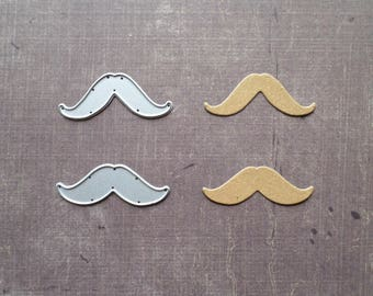 Die cut matrix Sizzix mustache man fashion accessory