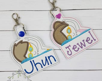 Personalized Name Tag-Swimming Backpack Name Tag-Swimming Coach Gift-Personalized swimming Gym Laptop Bag Tag-Personalized Key Chain
