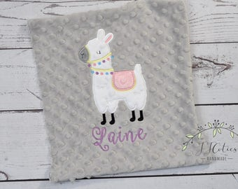 Baby Blanket Personalized Minky-Llama baby blanket-Llama Minky blanket-Boy Minky Llama Blanket-Llama Baby Boy Girl Blanket-Llama Nursery