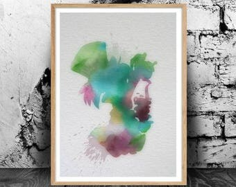 The Mad Hatter (Alice in Wonderland) A4 watercolour print, 220gsm canvas textured paper *FREE UK P&P*
