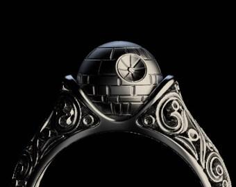 Star wars wedding rings etsy handmade