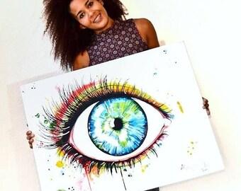 """Originale Malerei auf Leinwand von Buttafly ( Vanessa Brünsing ) - Oracle - 2012 -  60 x 80 cm (23,6"""" x 31,5"""")"""