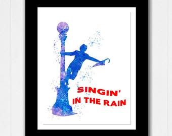 Singing in the Rain Abstract Watercolor - Buy 2 Get 1 FREE