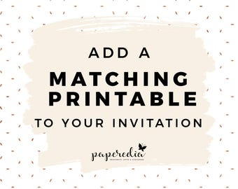 Add a Matching Printable to your Invitation