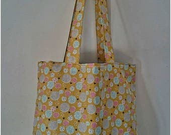Hand bag fabric tote bag with lining, Christmas gift idea