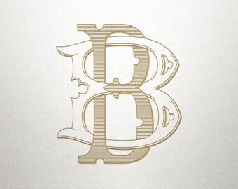 Interlocking Wedding Monogram - BB - Interlocking Wedding - Digital