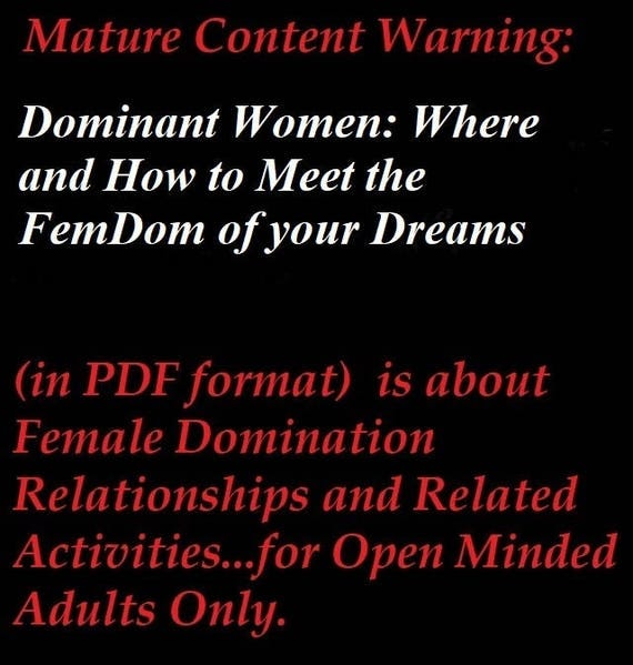 how to meet dominant women