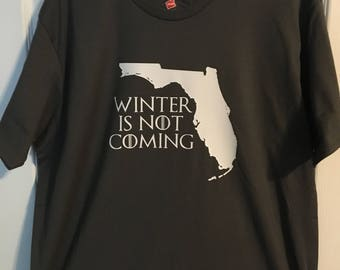 """Game of Thrones """"Winter is Not Coming"""" Shirt - Florida or Arizona"""