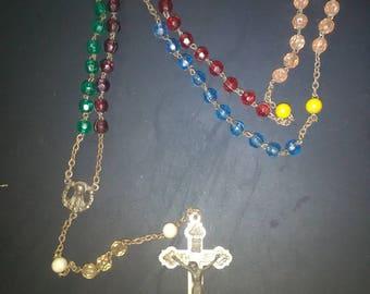 Antique Italian Rosary (multicolored)