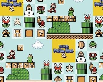 Sale Nintendo Super Mario Bros. 3 Cotton Fabric from Springs Creative, Super Mario Brothers, Nintendo