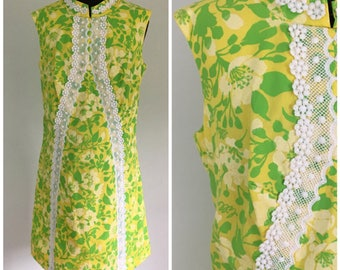 Vintage 1960s RARE Lilly Pulitzer Dress - Larger Size 60s 70s Lilly Shift Dress - Size XL, Extra Large