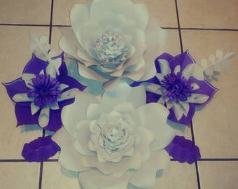 7 piece Paper flower set