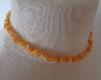 100% BALTIC AMBER Beads Necklace for Kids Teens Butterscotch 10.3 gr