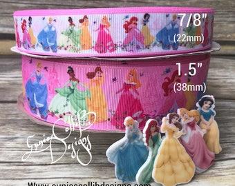 Disney princess inspired grosgrain ribbon
