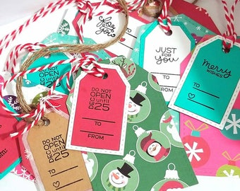 Christmas Gift Tag Set, Set of Gift Tags, Holiday Gift Tags, Christmas Tags, Gift Tags, Handmade Gift Tags