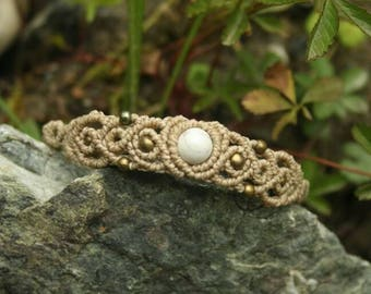 Macrame bracelet with turquoise bead