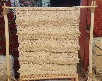 Vintage moroccan wedding blanket handmade size 200*120 cm