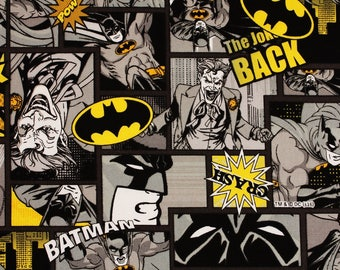 Batman Dark Night, Joker Oxford Fabric made in Japan DC Comics Fabric by the Fat Quarter