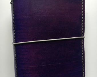 A6 Handmade Leather Traveler's Notebook / Journal Cover / Midori / Bullet Journal / Uglydori / Fauxdori