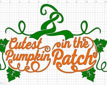 Cutest Pumpkin In The Patch SVG EPS DXF Studio3  Cut File