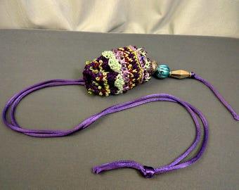 Crocheted Beaded Amulet Bag