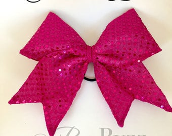 Christina Sparkle Fabric Cheer Bow