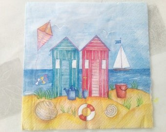 set of 2 napkins sailing or beach day?