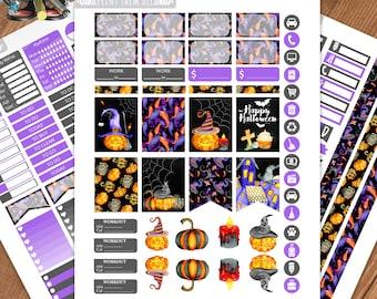 Halloween Planner Stickers Printable,Birthday, Weekly Kit,Stickers for ERIN CONDREN LIFEPLANNER™,Planner Kit,Stickers kit, Instant download