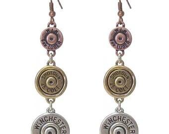 shotgun shell Bullet link drop earring