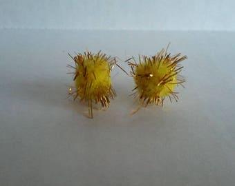 Puff Ball Earrings