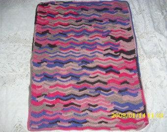1 baby blanket crocheted 57 X 75 cm