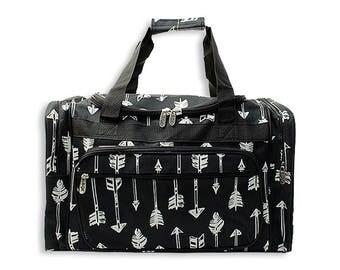 """Monogrammed Duffle-Personalized Duffle-Boy Duffle-Overnight bag-Camo-Robots-Cars-Duffel-Duffle-suitcase-20"""" Duffle-Anchors-Ikat-Arrows"""