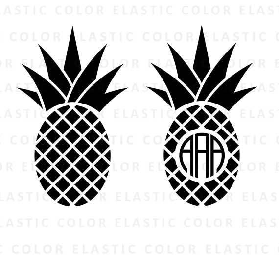 Pineapple svg ananas svg pineapple monogram clipart summer