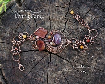 Wire wrap bracelet, wire bracelet, Adjustable bracelet, copper bracelet, Wire wrap jewelry, copper jewelry, wrapped bracelet, Unique gift