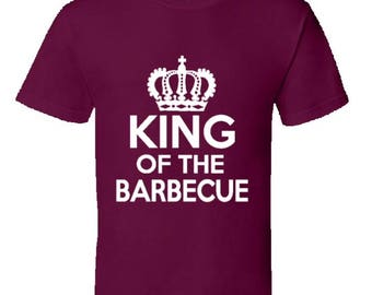 Funny cooking t shirt,chef t shirt,barbecue tshirt,funny dad t shirt,keep calm and bbq t shirt,camping t shirt,bbq king t shirt,King Of BBQ